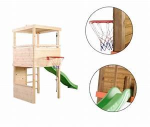 Jeux Exterieur Bois Enfant : aire de jeux sport escalade toboggan basket jardideco ~ Premium-room.com Idées de Décoration
