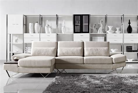 Contemporary Fabric Sectional Sofas Maura Modern Fabric