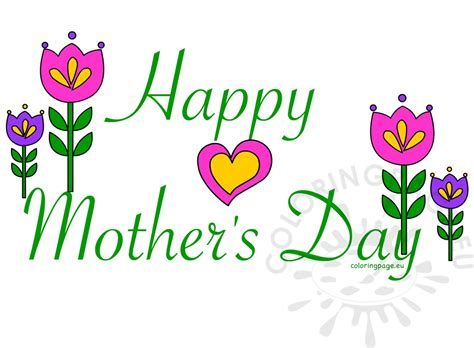 mothers day clipart happy s day card clipart coloring page