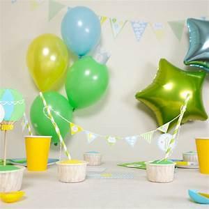1 An Anniversaire : d co anniversaire 1 an gar on bebe kit pas cher achat vente ~ Farleysfitness.com Idées de Décoration