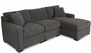 Radley 3 piece fabric chaise sectional sofa costa rican for Radley 4 piece fabric chaise sectional sofa