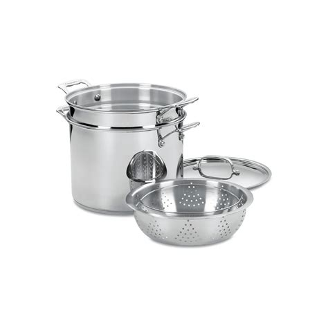 atcuisinart  piece  quart pasta  steamer set cookware set cookware set stainless steel