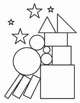 Coloring Shapes Pages Shape Printable Museprintables Print Printables Preschool sketch template