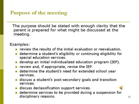 purpose   meeting