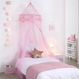 Voile De Lit : ciel de lit demoiselle rose les douces nuits de ma linge de maison ~ Teatrodelosmanantiales.com Idées de Décoration