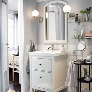 Miroir Salle De Bain Ikea : petites salles de bains ikea marie claire maison ~ Teatrodelosmanantiales.com Idées de Décoration