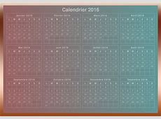 Download imprimable 2016 Calendrier in French 2019 2018