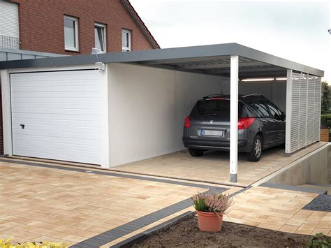 Carport Garage Kombination by Reihencarports Und Garage Carport Kombinationen Carceffo
