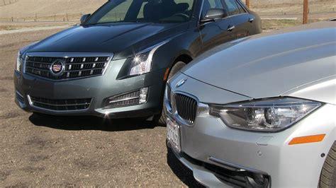 Cadillac Ats Vs Bmw 335i by Cadillac Ats 2 0t Vs Bmw 335i Mashup 0 60 Mph Performance