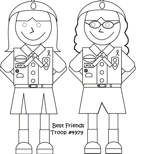 girl scouts coloring pages bestofcoloringcom