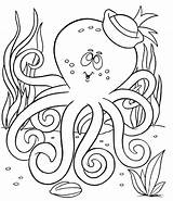 Octopus Coloring Pages Doctor Printable sketch template