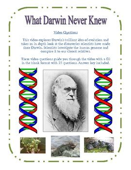 What Darwin Never Knew  Video Questions (pbs) By Amy Kirkwood Tpt