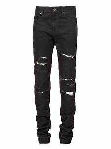Saint laurent Ripped Jeans in Black for Men | Lyst