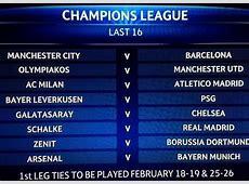 Man City vs Barcelona & Galatasaray v Chelsea in Champions