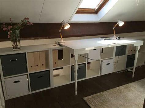 fabriquer un sous de bureau armoire pour comble dressing ikea sous pente decoration