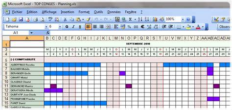 modèle planning congés excel gratuit xtralog le top cong 233 s exportation du planning