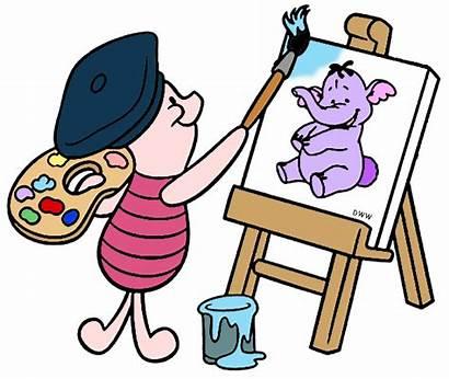 Painting Clip Disney Piglet Clipart Lumpy Pooh