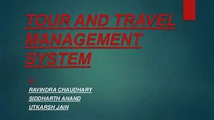 Tour And Travel Management System