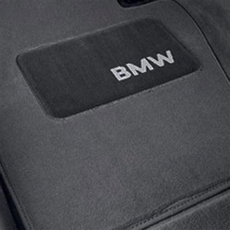 genuine bmw logo floor mat set grey