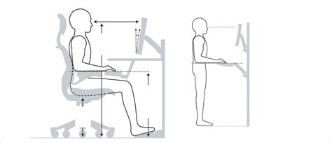 standing desk height calculator standing at work above desk keyboard trays or a sit stand