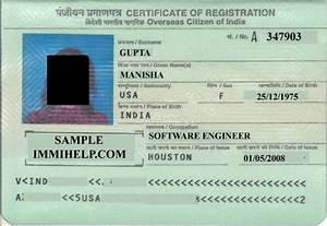 sample oci card india registration booklet With documents required for oci