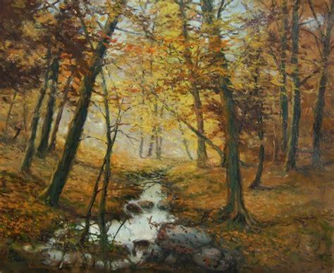 le de wood peinture quot la for 234 t des colettes en automne quot louis tellier artiste peintre n 233 o impressionniste