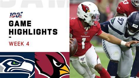 seahawks  cardinals week  highlights nfl  youtube