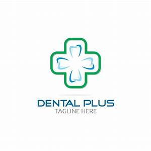 Dental plus logo with cross Vector | Free Download