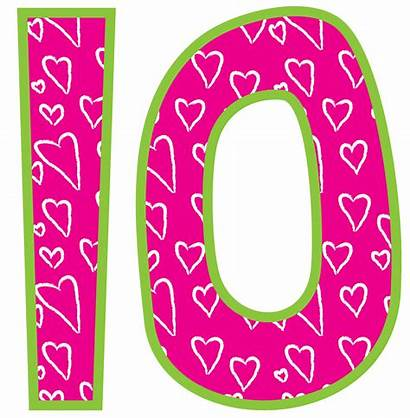 Number Clip Clipart Meses Esse Graphics Usa