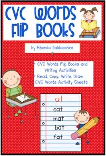 flip books  images cvc words writing activities