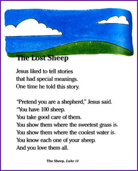 the lost sheep jesus parable story korner biblewise 804 | 1