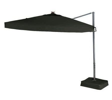 southern casual olefin offset umbrella w solar led lights