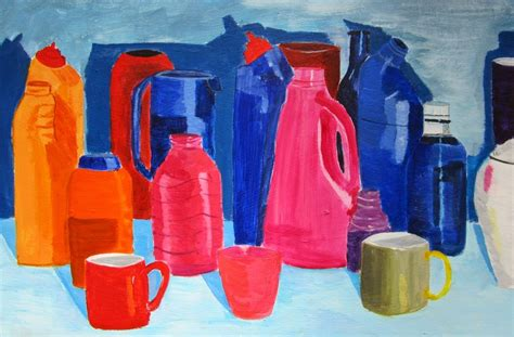 painting plastic bottles hannah tofts creation