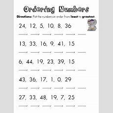 Order Numbers From Least To Greatest Worksheets  Good Assessment !  Homeschooling Math