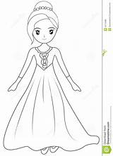 Coloring Gown Pages Sleeve Dresses Illustration Drawings Designlooter Dreamstime 1300px 88kb sketch template