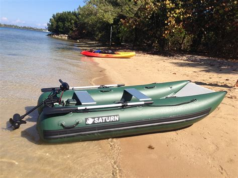 Fishing Off An Inflatable Boat by Inflatable Catamaran Nano Cat Nc290