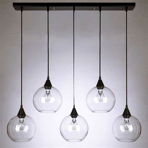modern clear glass orbs pendant lighting 10095 free ship