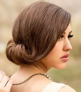 Chignon Cheveux Mi Long : photo coiffures mariage cheveux mi longs chignon simple ~ Melissatoandfro.com Idées de Décoration