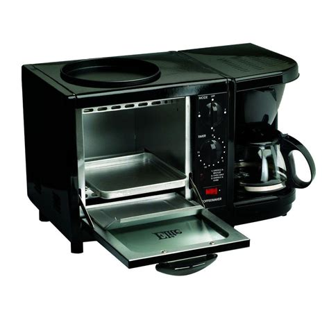 coffee maker toaster oven elite 3 in 1 breakfast station griddle oven coffee maker