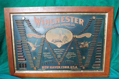 Vintage Winchester Bullet Cartridge Board Displ... For Sale