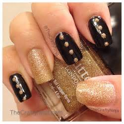 Black and gold acrylic nail art awesome easy designs