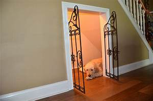 Diy dog house under the stairs tutorial the rodimels for Dog cage cost