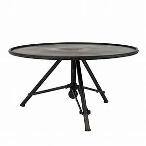Table Ronde Industrielle : table basse m tal ronde indus brok par ~ Teatrodelosmanantiales.com Idées de Décoration