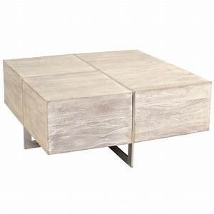 uptown whitewashed solid wood end table zin home With whitewash square coffee table