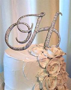 letter h wedding cake topper in silver style 6 With cake topper letter h