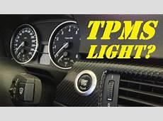 BMW 335i 335xi Remove Yellow Tire Pressure Light TPMS