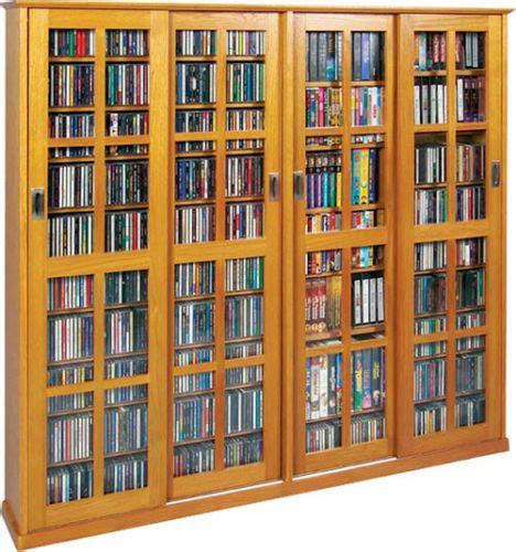 dvd storage cabinet sliding glass door 1400 cd 672 dvd storage cabinet ebay
