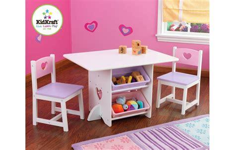 table et chaises enfants table et 2 chaises pour fille en bois avec