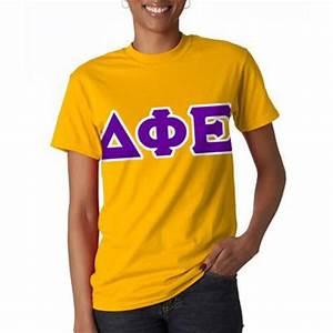delta phi epsilon sorority letter t shirt greek clothing With delta phi epsilon letter shirts