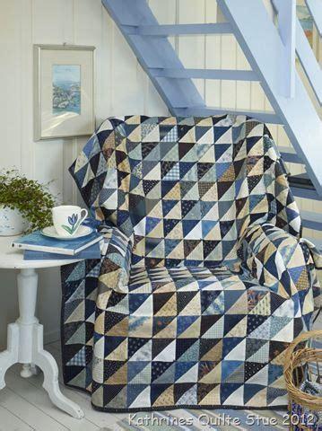 Blue Half Square Triangle Quilt